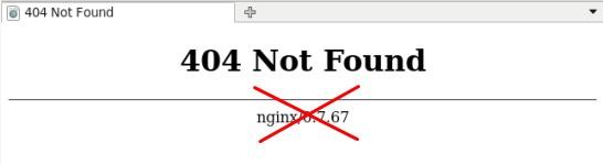 скрыть версию nginx