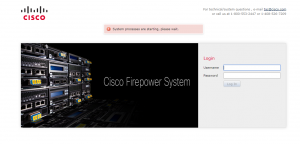 System processes are starting, please wait FMC