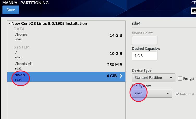 проверьте файловую систему подкачки