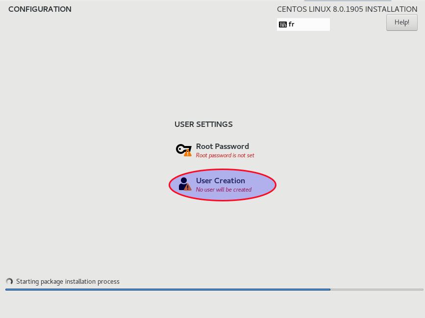 создайте учетную запись пользователя