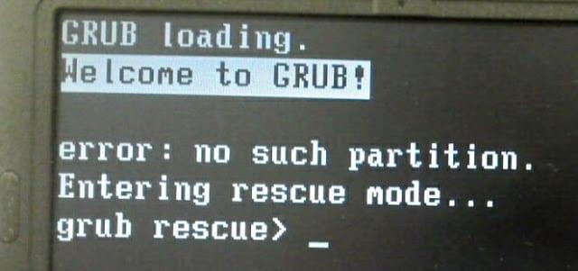 Grub rescue на Linux что делать