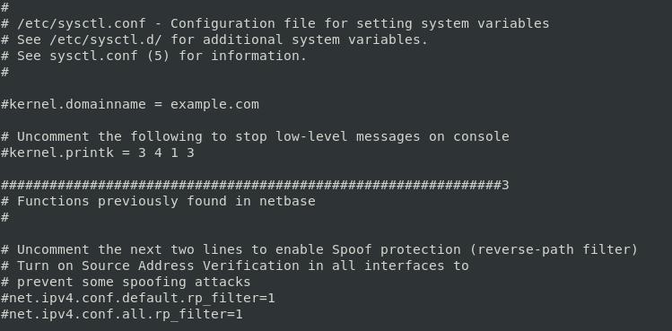 Переменные ядра Linux в sysctl