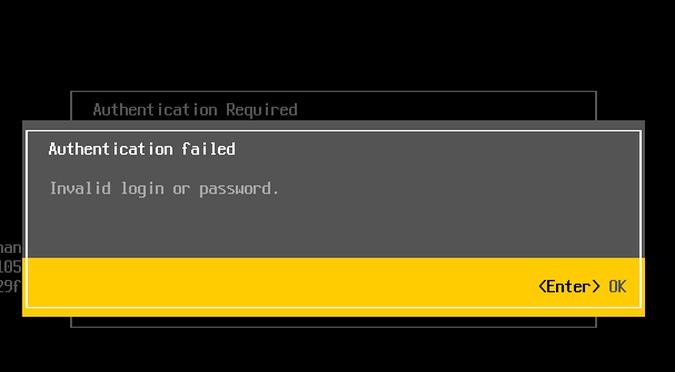 Как сбросить пароль root в VMware ESXi