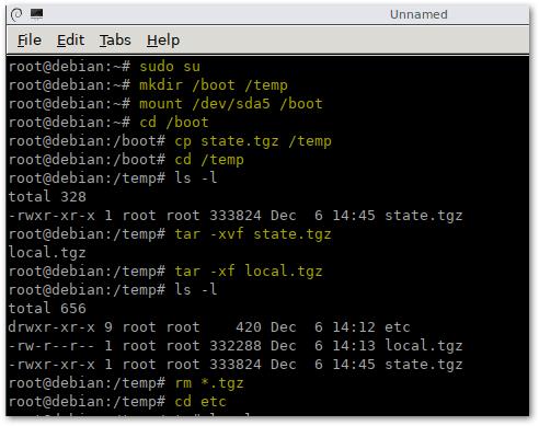Выполнение команд для сброса пароля root на VMware ESXi