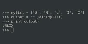 Как вывести список Python в виде одной строки