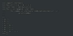 Вывести все комбинации элементов списка Python