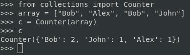 Узнать количество повторений в списке Python