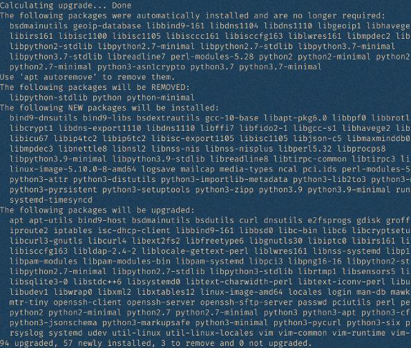 обновите Debian 10 до Debian 11 bullseye